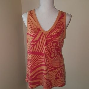 Orange and Pink/red Roxy Floral Tank
